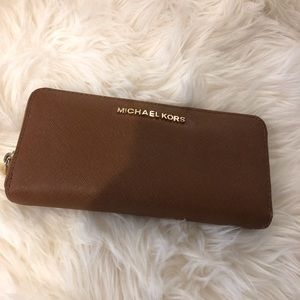 MICHAEL KORD BROWN LEATHER WALLET